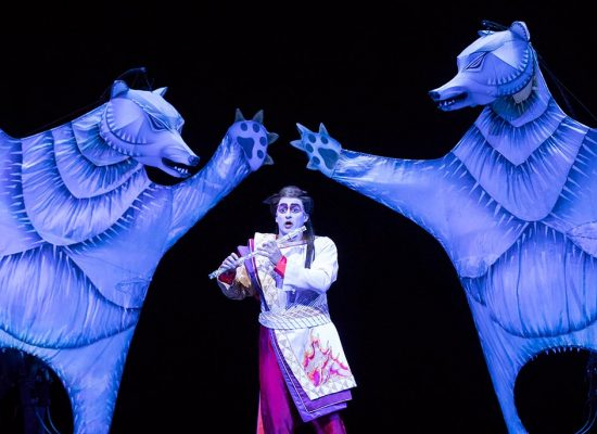 A scene from the Met performance of Mozart's Magic Flute