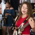 Nilüfer Yanya plays a Tiny Desk Concert (Shuran Huang/NPR).