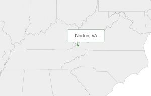 Norton, Va. on a map