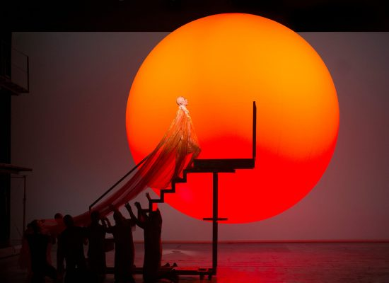 A scene from the Met performance of Philip Glass's Akhaten