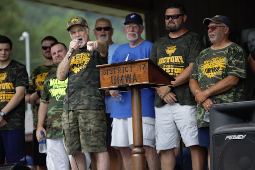 UMWA President Cecil Roberts speaks at the union's Labor Day picnic.