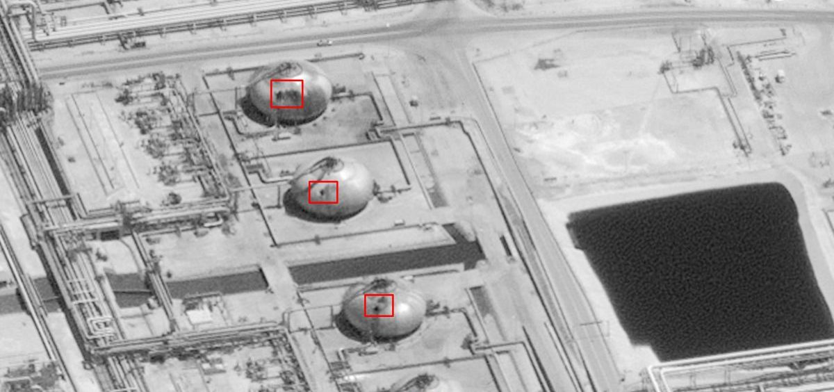 Among the targets hit in the facility are apparently tanks used to hold flammable gas, and separation towers critical to its operation.