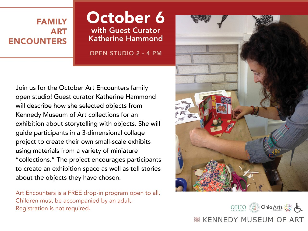 Family Art Encounters flier
