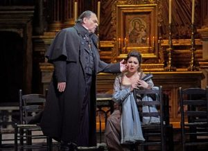 A scene from the Met performance of Puccini's Tosca