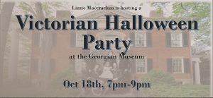 Victorian Halloween Party flier