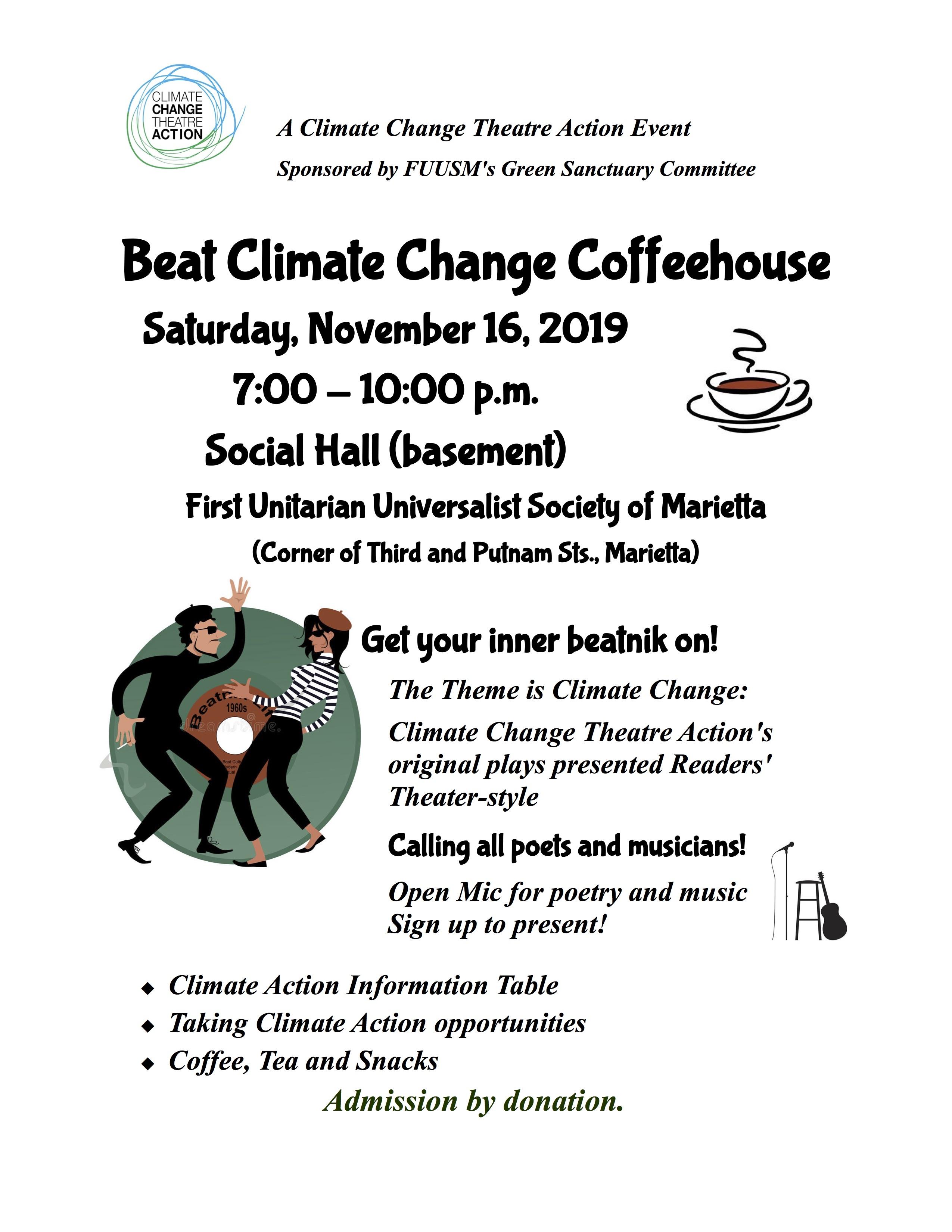 Beat Climate Change flier