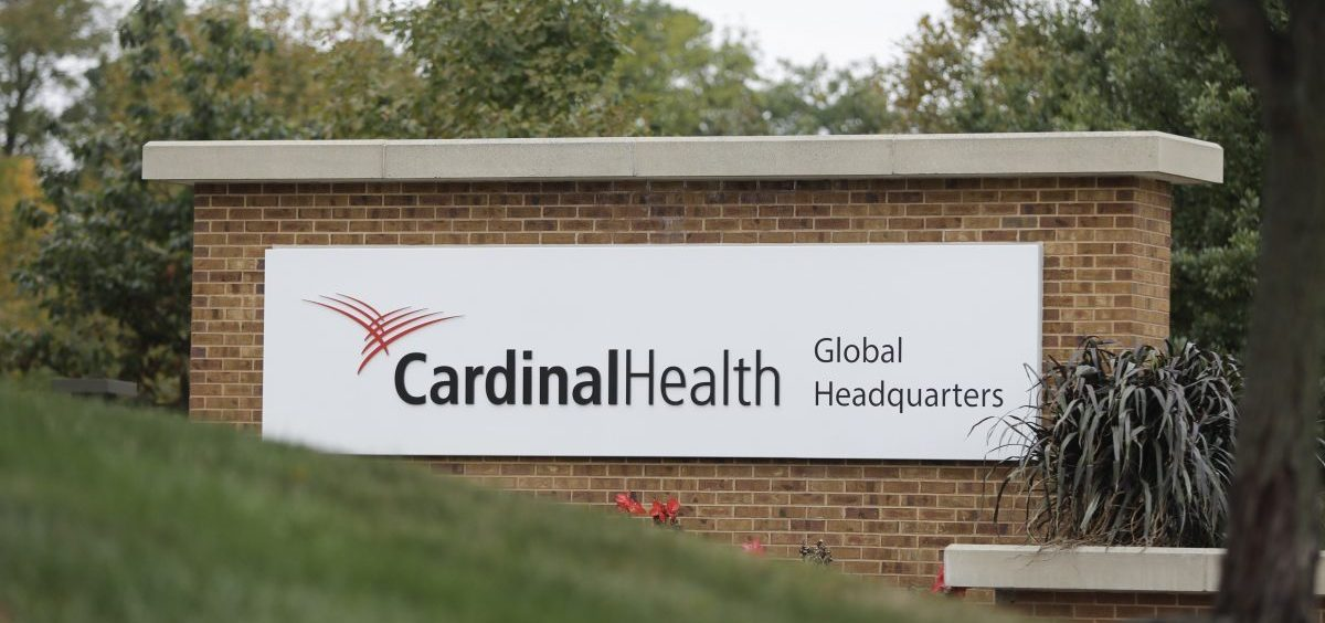 A sign is displayed at the Cardinal Health, Inc. corporate office in Dublin, Ohio.