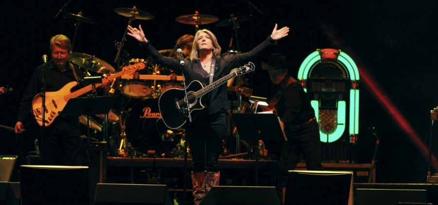 Kathy Mattea performs at the George Jones Tribute - Playin' Possum: The Final No Show, at the Bridgestone Arena in Nashville, Tenn.