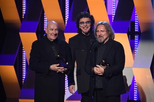 ill Ward, Tony Iommi, and Geezer Butler of Black Sabbath