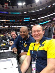 Brian Boesch as radio announcer for Michigan basketball