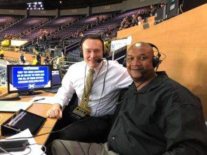 Brian Boesch working as radio announcer for Michigan basketball