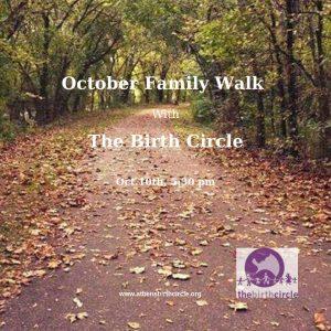 October Family Walks flier