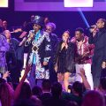Snoop Dogg, Sheila E. and members of George Clinton and Parliament-Funkadelic including Bootsy Collins and George Clinton perform onstage during the GRAMMY Salute to Music Legends