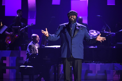Gregory Porter speaks onstage during the GRAMMY Salute to Music Legends