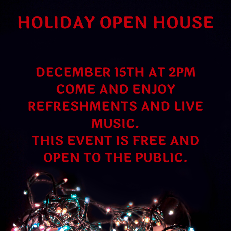 Holiday Open House flier