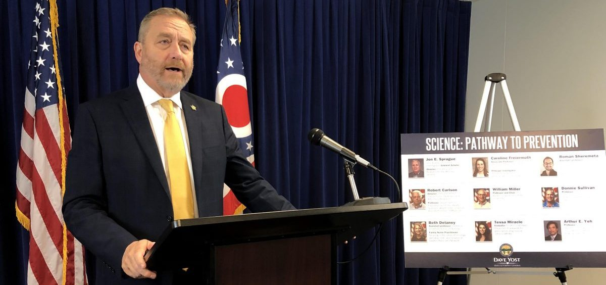 Ohio Attorney General Dave Yost announces the new study.