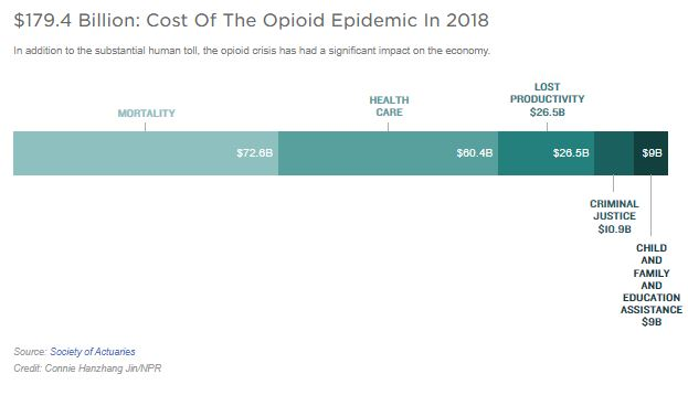 Costs of the opioid epidemic graphic