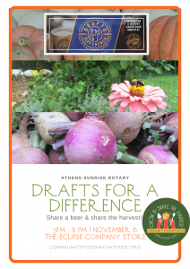 Drafts for a Difference flier