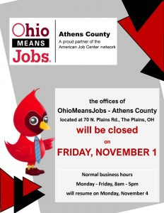 Ohio Means Jobs closed flier