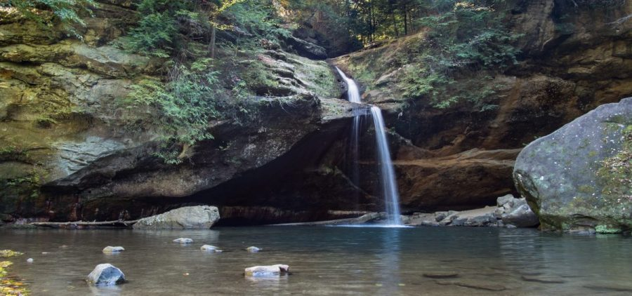 Waterfall at Old Mans Cave