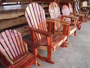Handmade wooden rocking chairs