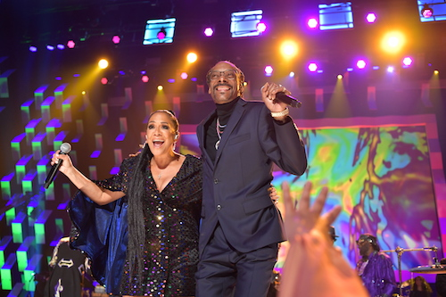 Sheila E. and Snoop Dogg perform onstage during the GRAMMY Salute to Music Legends