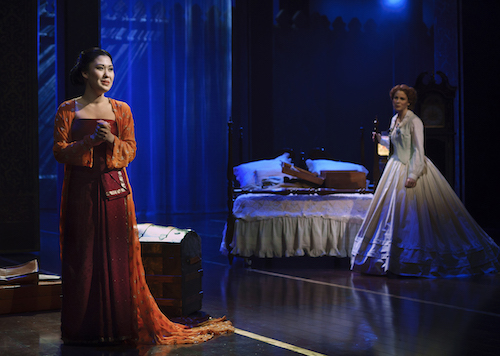Broadway play The King and I two women performers in house scene