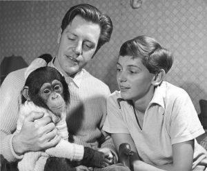 Durrell boys wioth chimp