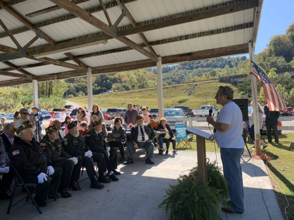 A dedication service for the new black lung memorial in Whitesburg, KY.