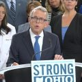 Gov. Mike DeWine speaks at a press conference