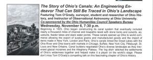 The Story of Ohio's Canals flier