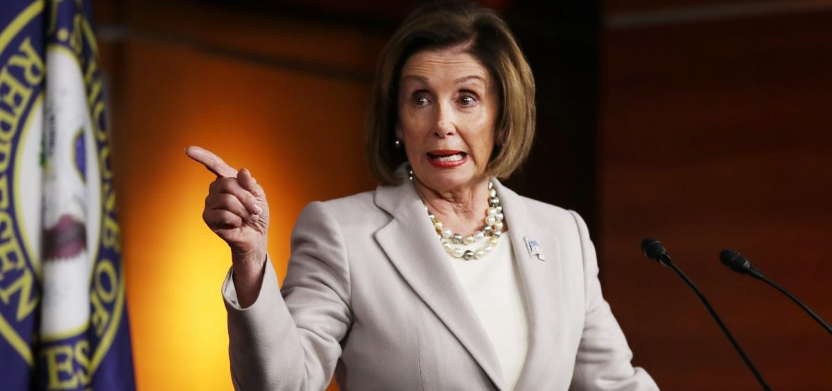 House Speaker Nancy Pelosi holds a press conference at the Capitol.