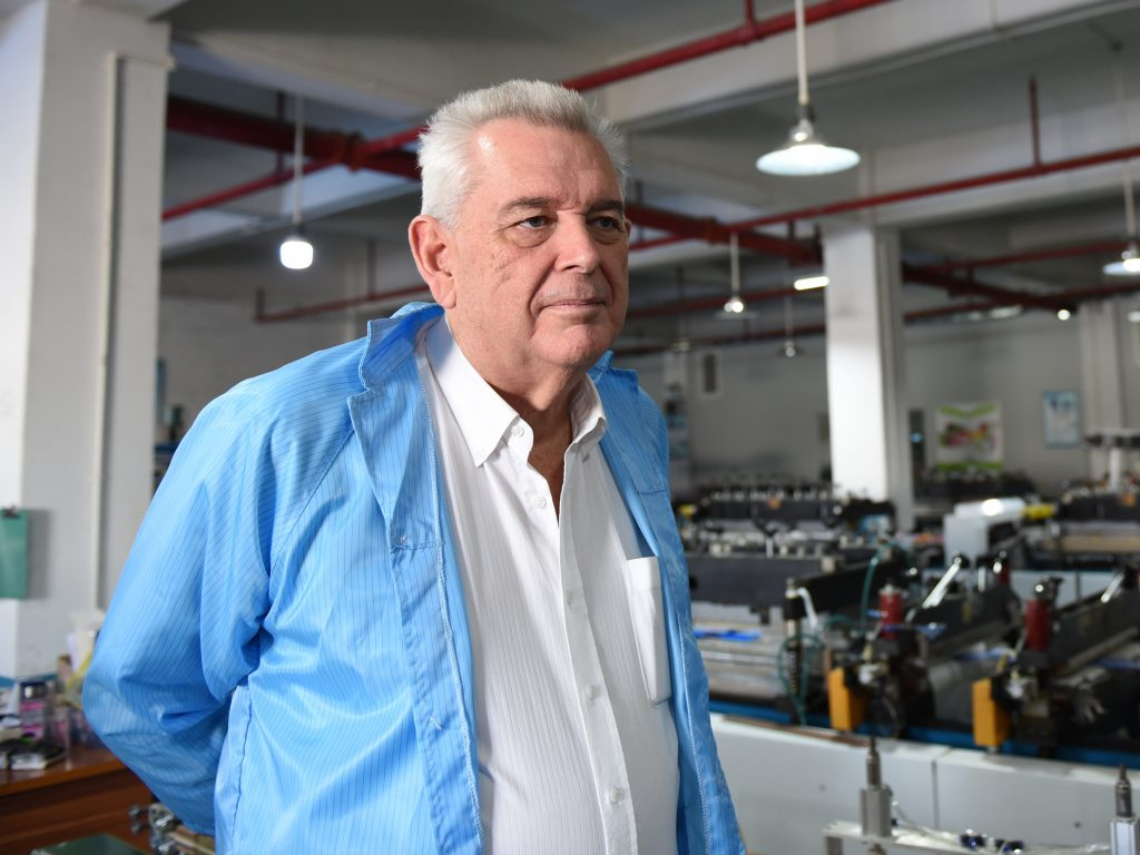 """Christopher Devereux is the managing director of Omnidex, which connects foreign companies from all over the world with Chinese factories that can manufacture their products. He recently pulled most of his clients out of the Fangjie factory and moved their business to factories in Vietnam """"because of the tariffs, [because of] the trade war,"""" he says."""