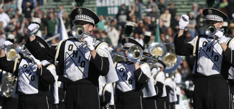 The Marching 110 playing before Ohios Homecoming game