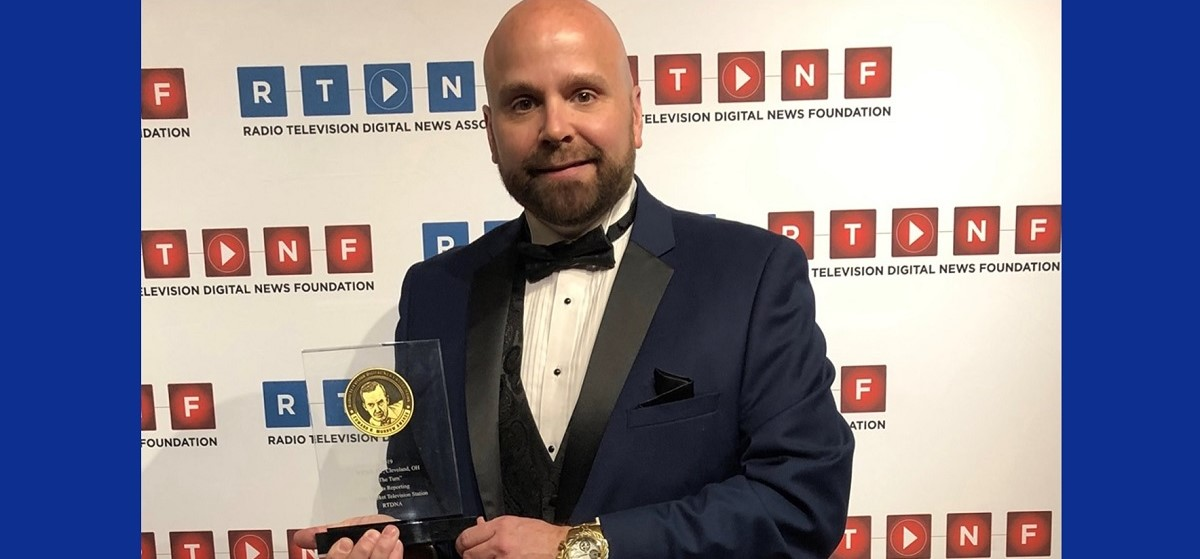 Jonathan Walsh gets National Edward R. Murrow Award for Sports Reporting in New York City