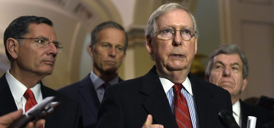Senate Majority Leader Mitch McConnell of Ky.