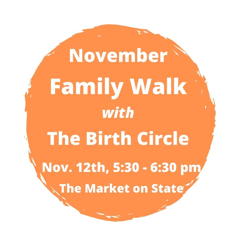 Family Walk with The Birth Circle flier