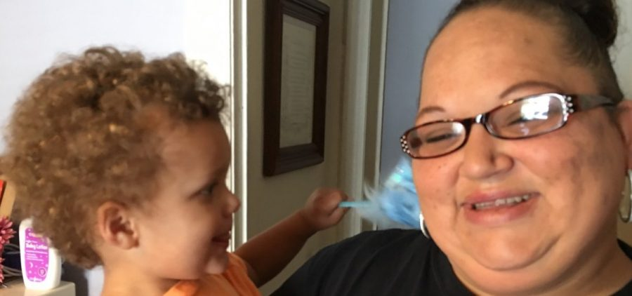 Kristi Reyes now spends time with her grandson in her new home.