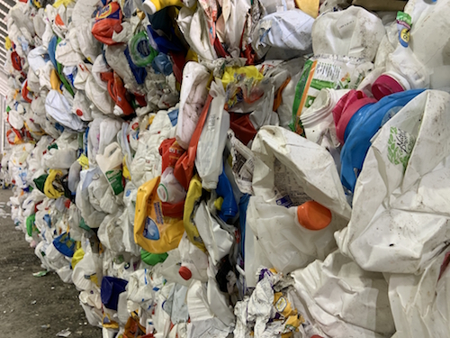 Plastic recycling ready for resale