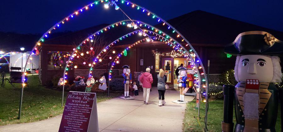Stubenville Park walkway lit up