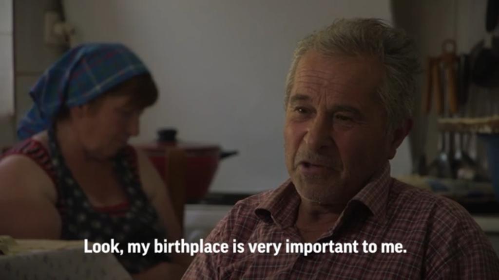 Jorgji Ilia, 71, Kanikol villager, doesn't want dams built on the Vjosa River