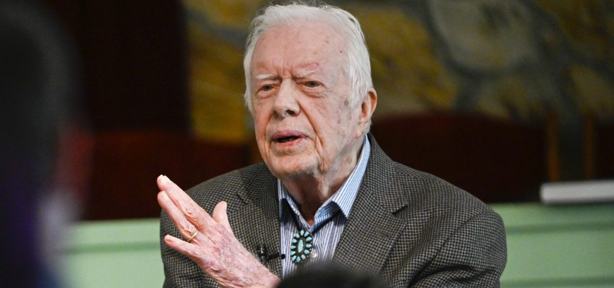 Former President Jimmy Carter is having surgery to relieve pressure on his brain Tuesday. He's seen here earlier this month, teaching Sunday school at his church in Plains, Ga.