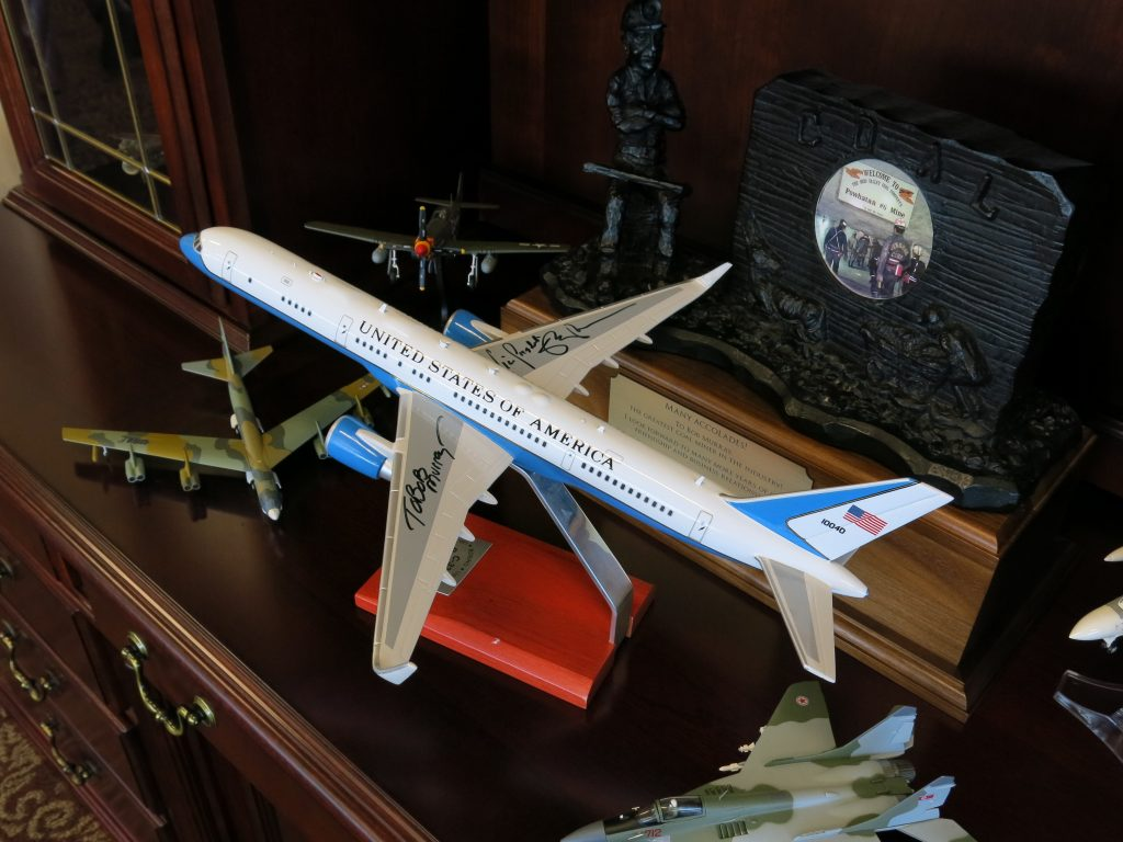 Bob Murray has close connections to the Trump administration. In his corner office there's a model of Air Force 2, with Vice President Mike Pence's autograph on the wing.