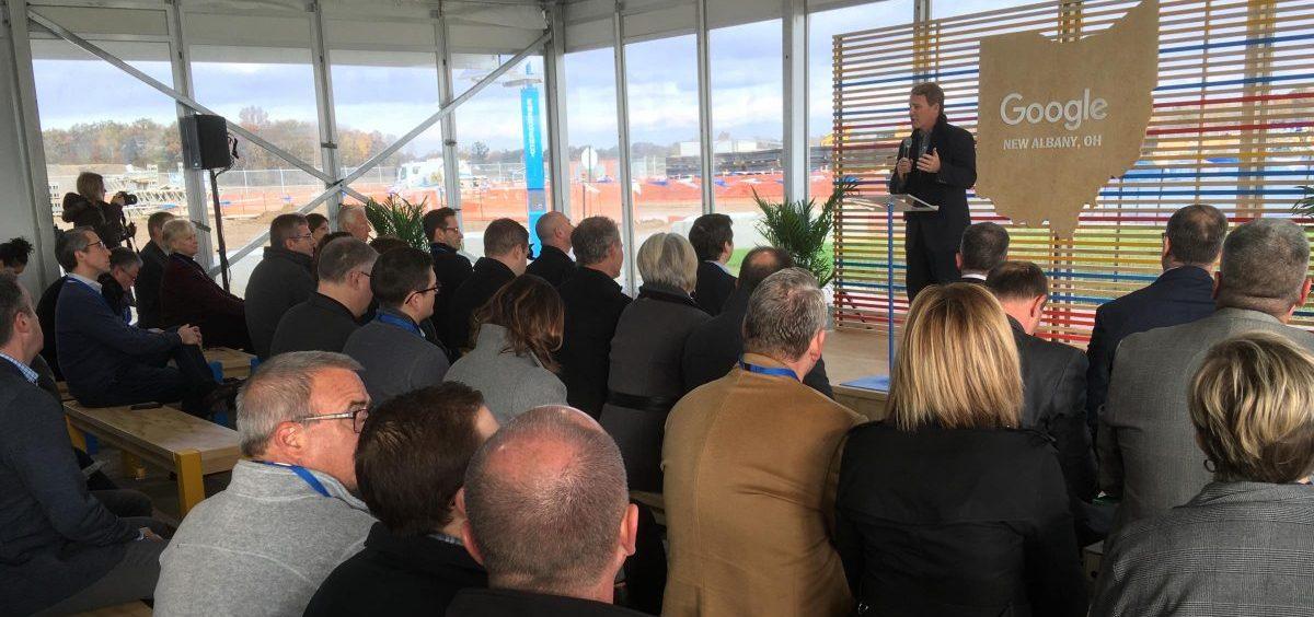 Lt. Gov. Jon Husted (R-Ohio) at new Google Data Center in New Albany.