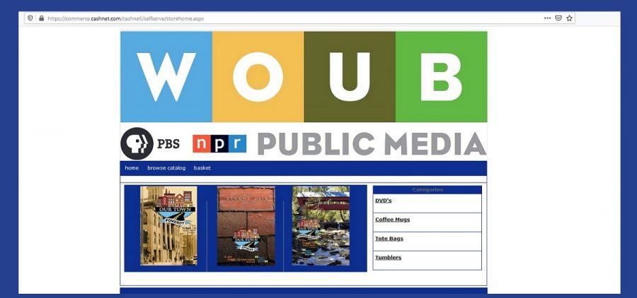 Screen shot of WOUB Merchandise Shop