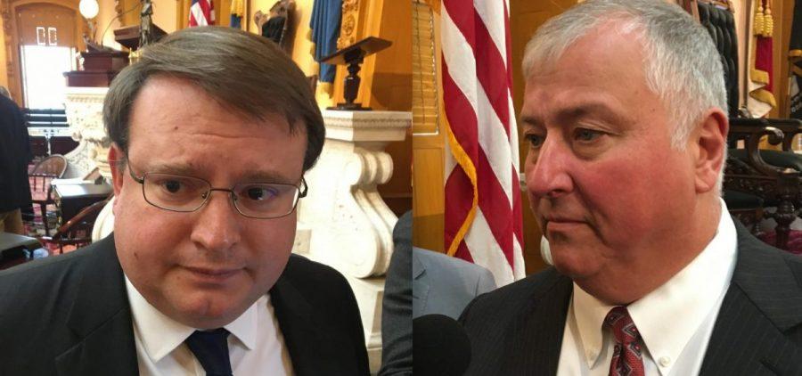 Senate President Larry Obhof and House Speaker Larry Householder