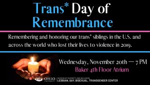 Trans Remembrance flier