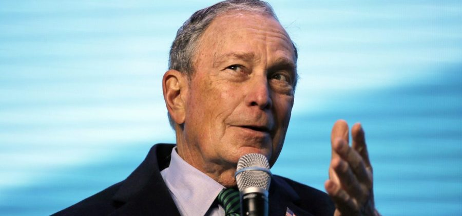 Democratic presidential candidate and former New York City Mayor Michael Bloomberg gestures while taking part in an on-stage conversation with former California Gov. Jerry Brown at the American Geophysical Union fall meeting in San Francisco. Michael Bloomberg swung through Tennessee on Thursday, Dec. 19, 2019 highlighting his newly released health care plan and celebrating the opening of the Democrat's state campaign headquarters.