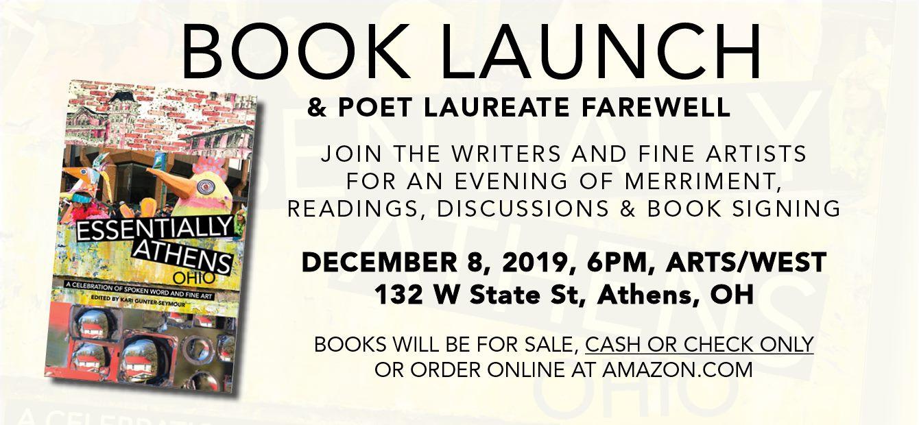 Book launch flier