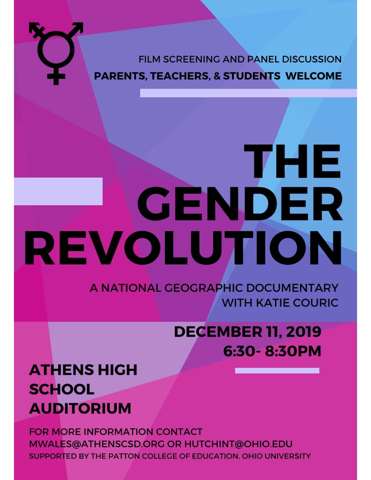 The Gender Revolution flier